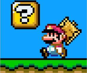 Mario en pixel art