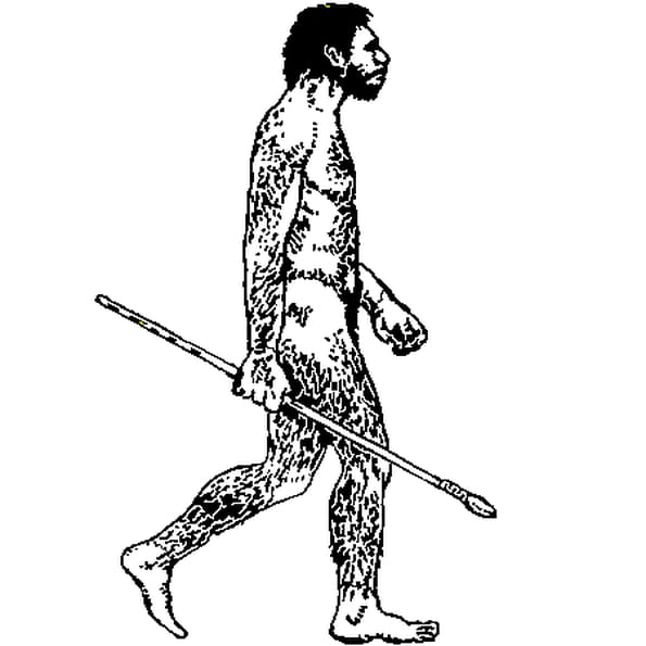 Coloriage Homme préhistorique en Ligne Gratuit à imprimer