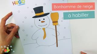 Bonhomme de neige à habiller - Étape 4