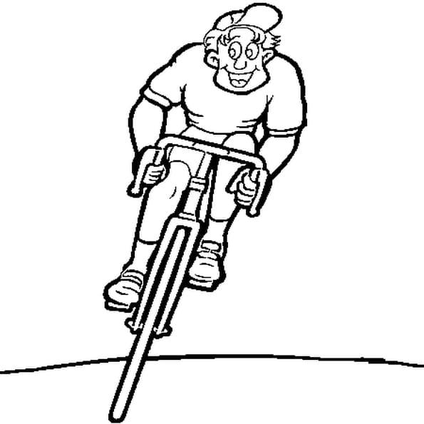 Coloriage cycliste en Ligne Gratuit à imprimer