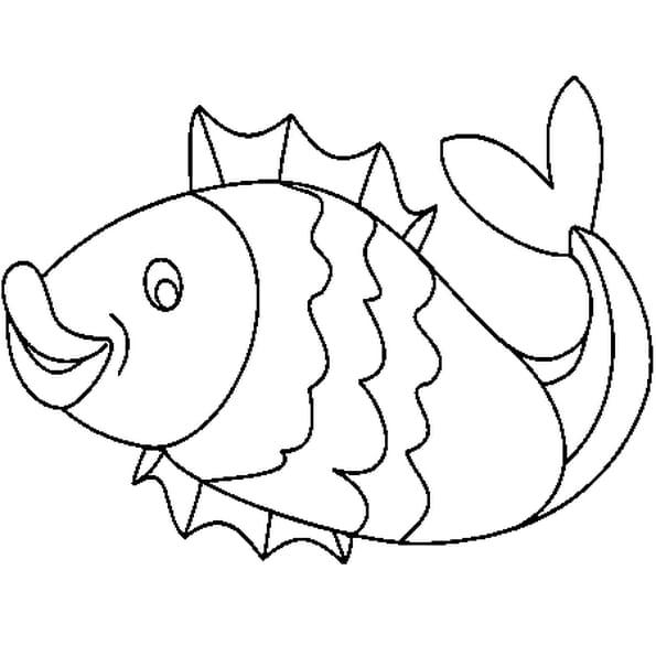 Pin dessin poisson avril coloriages animaux imprimer sunn - Poisson dessin ...