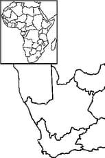 Coloriage Carte Afrique du Sud