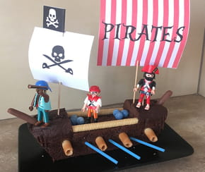 Gâteau bateau de Pirates