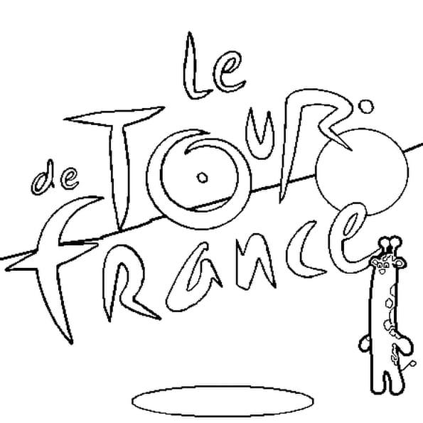 Dessin Tour de France a colorier