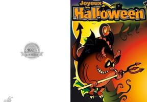 Carte de vœux Halloween diablotin