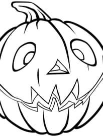 Citrouille d'Halloween heureuse