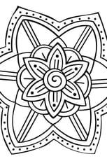 Coloriage Mandala Jardin en Ligne Gratuit à imprimer