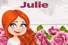 Julie : prénom de fille lettre J