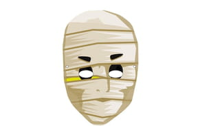 Masque de Momie effrayant pour Halloween
