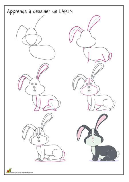 Dessiner un lapin - Dessin un lapin ...