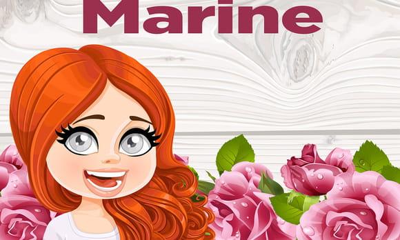 Marine : prénom de fille lettre M