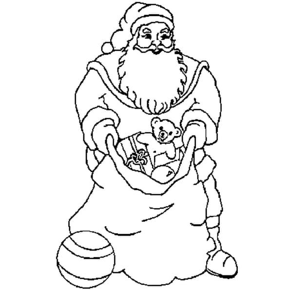 Coloriage dessin du Père Noël en Ligne Gratuit à imprimer