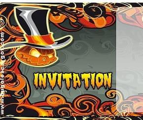 Carte invitation Halloween citrouilles diverses