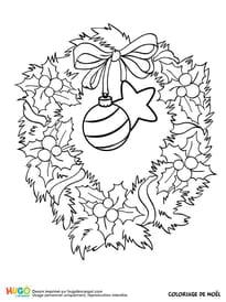 Couronne de Noël et décoration