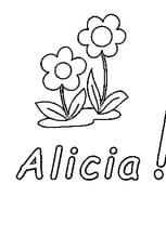 Coloriage Alicia en Ligne Gratuit à imprimer