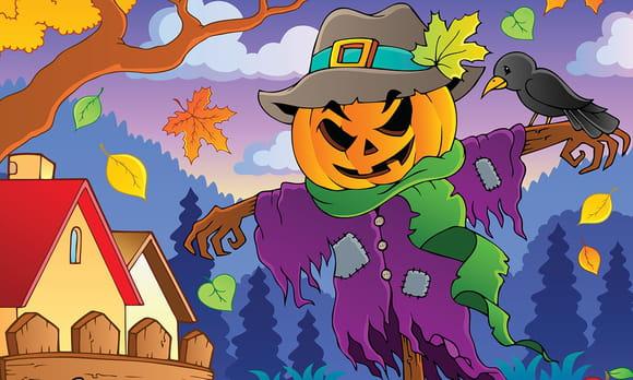 épouvantails d'Halloween