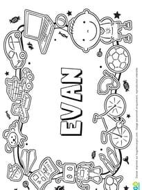 Evan prénom de garçon version3