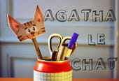 Pliage Agatha le chat