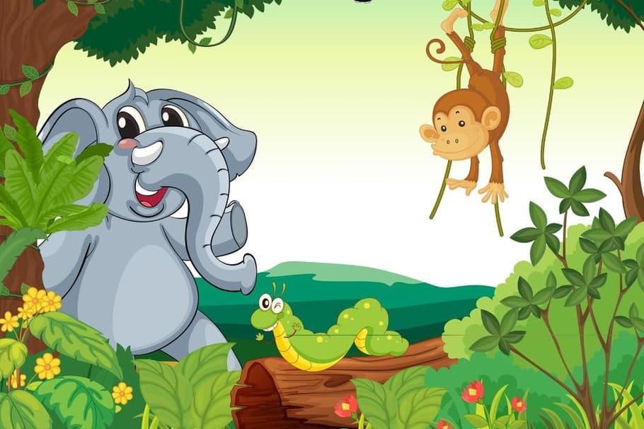 Comptine Le singe et l'éléphant