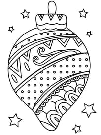 Coloriage Boules De Noël Sur Hugolescargotcom