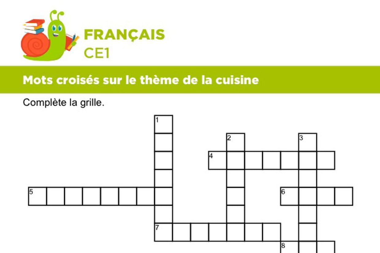 Mots Croises Sur Le Theme De La Cuisine