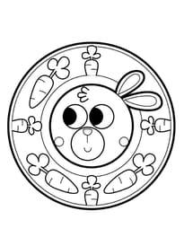 Mandala lapin, pour les petits