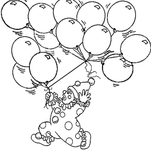 Coloriage Ballon de Baudruche en Ligne Gratuit à imprimer