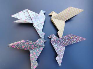 Votre oiseau origami est fini!