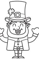 Coloriage Saint Patrick le Leprechaun en Ligne Gratuit à imprimer
