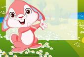 Carte lapinou de Pâques