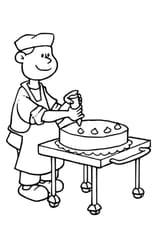 Coloriage Pâtissier