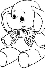 Coloriage bébé elephant