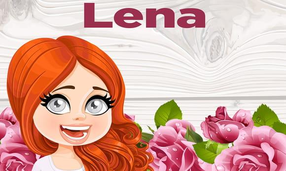 Léna : prénom de fille lettre L