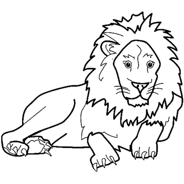 Coloriage animaux lion en ligne gratuit imprimer - Lion dessin facile ...
