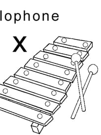 lettre x comme xylophone