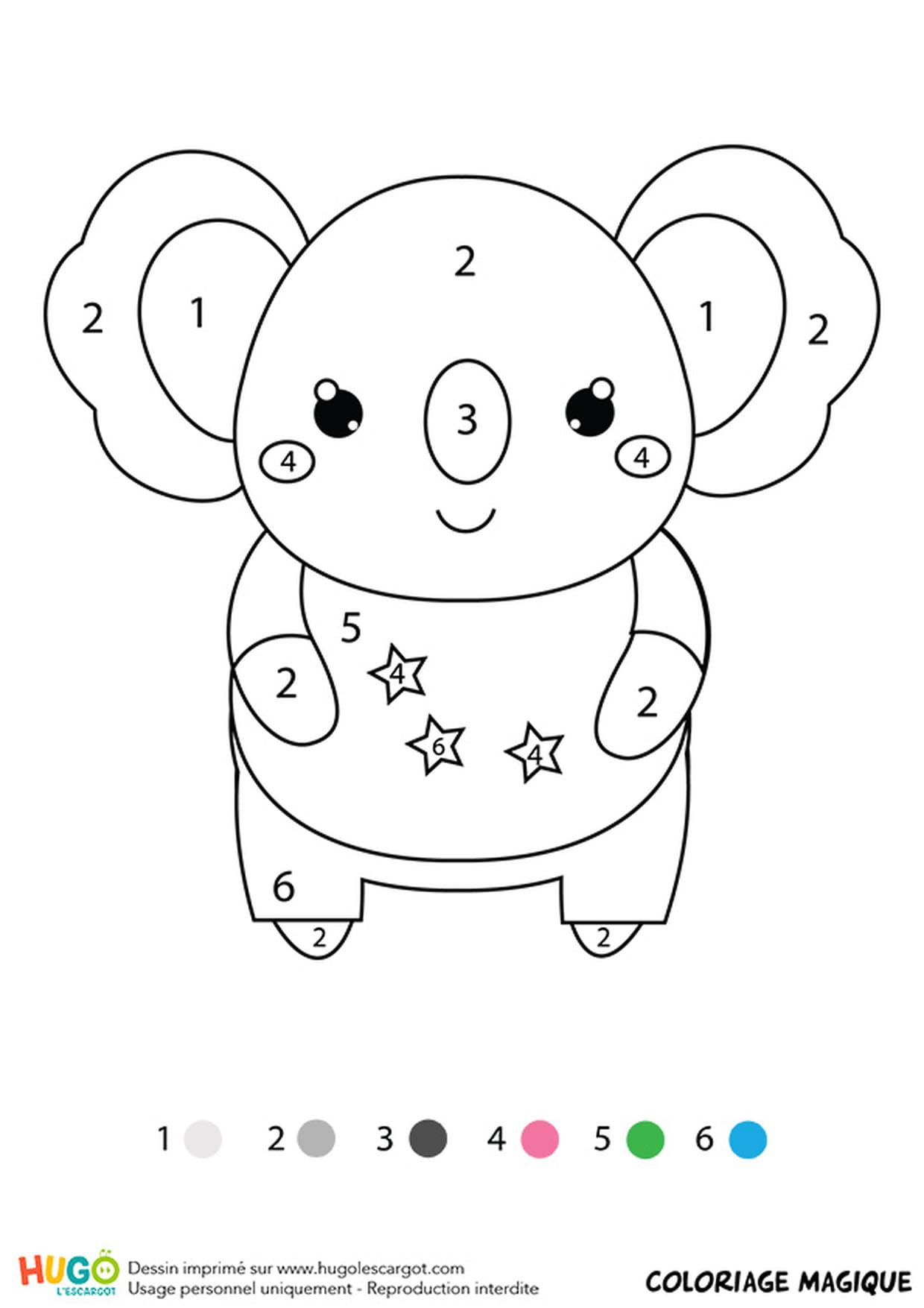 Coloriage Magique Cp Un Koala