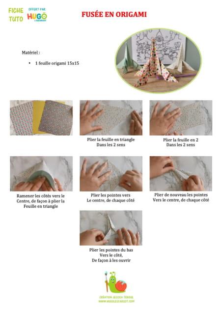 fabriquer-une-fusee-en-origami