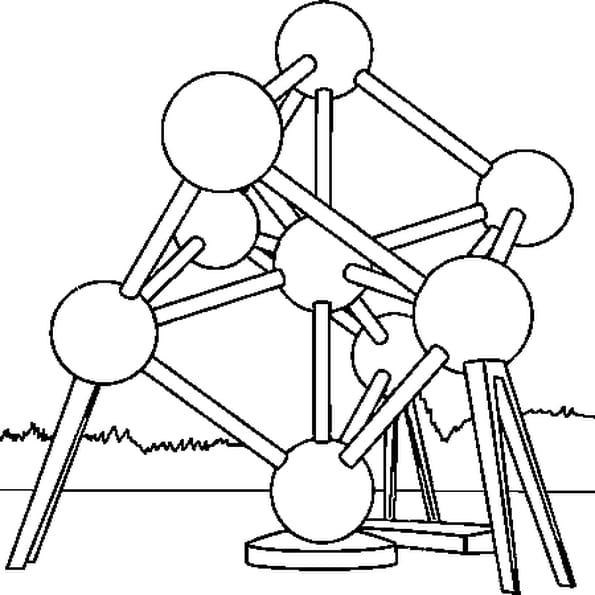 Coloriage Atomium en Ligne Gratuit à imprimer