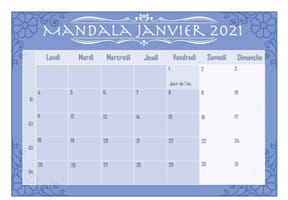 Mandalas à colorier: calendrier2021