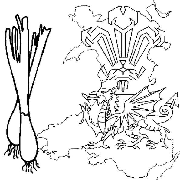 Coloriage Pays de Galles en Ligne Gratuit à imprimer