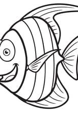 Coloriage Petit poisson rigolo