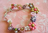 Bracelet Guirlande de fleurs en perles