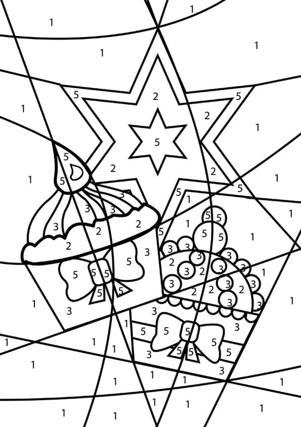 Coloriage magique gâteaux de Noël
