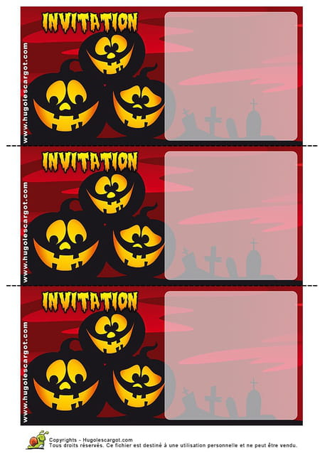 Carte invitation halloween - Jeux gratuits hugo l escargot ...