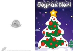 Carte de vœux petit sapin de Noël