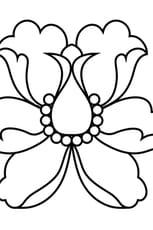 Coloriage Fleur de lotus stylisée