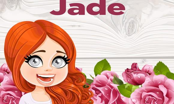 Coloriage Jade Prénom De Fille Lettre J Sur Hugolescargot Com