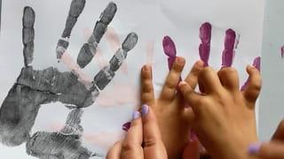 Étape 2: marquer l'empreinte de main