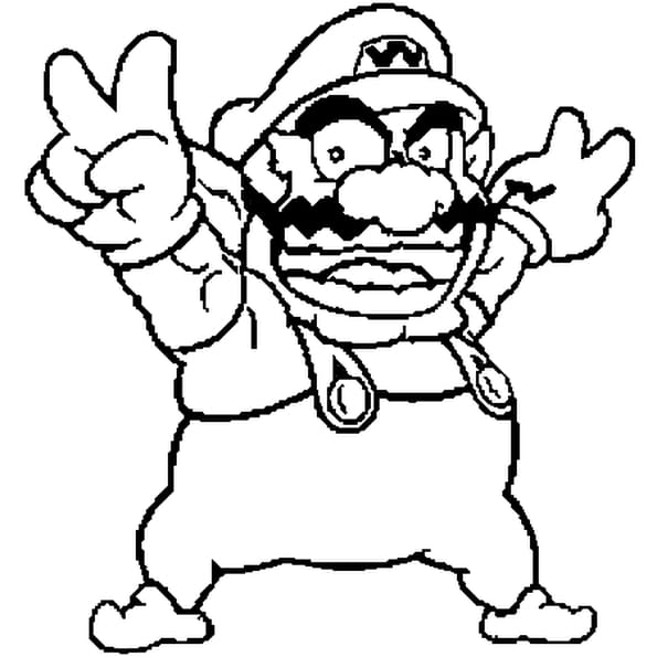 wario coloring pages - photo#28