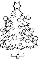 Coloriage d'un sapin de Noël en Ligne Gratuit à imprimer